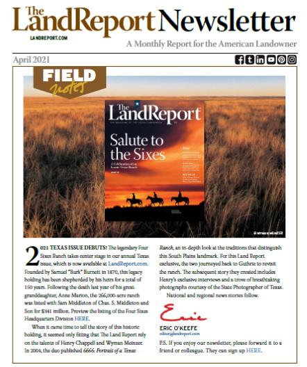 Land Report Newsletter April 2021