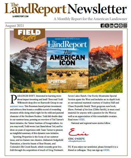 Land Report Newsletter August 2021