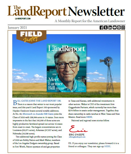 Land Report Newsletter January 2021