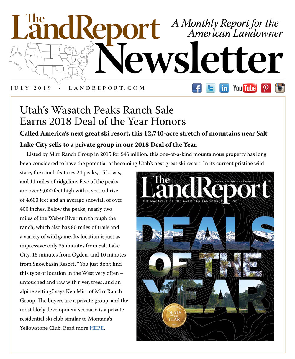 Land Report Newsletter July 2019