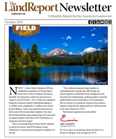 Land Report Newsletter October 2021