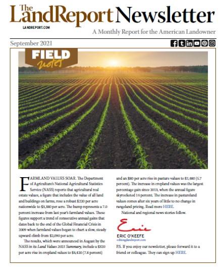 Land Report Newsletter September 2021